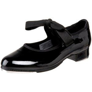 Bloch Dance Girl's Annie Tyette Black Tap Shoe 7.5
